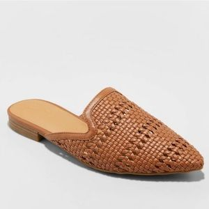 NWT Universal Thread Mules Backless Cognac Woven